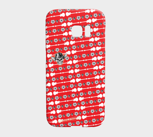 GALAXY S7 EDGE Skull Daisy by MonkeyWrenched - Red