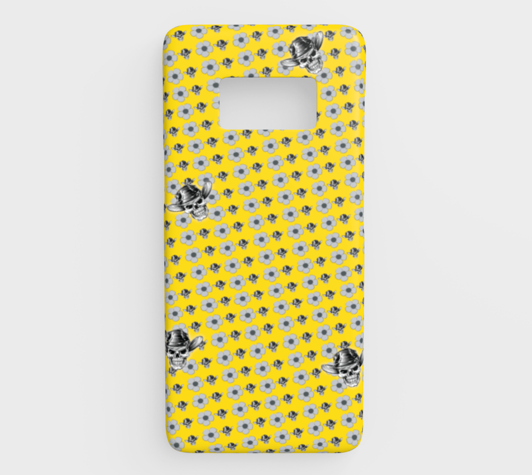 GALAXY 68 PHONE COVER Skull Daisy by MonkeyWrenched