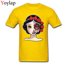 Normal Sugar Skull Series Poisoned Apple Princess Mens T-Shirt Dominant Summer Fall Crew Neck All Cotton Tops T Shirt Tee-Shirt