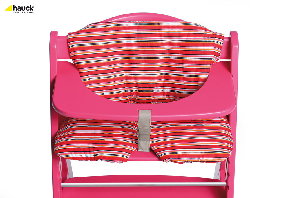 Hauck Alpha Highchair Seatpad Red Stripe