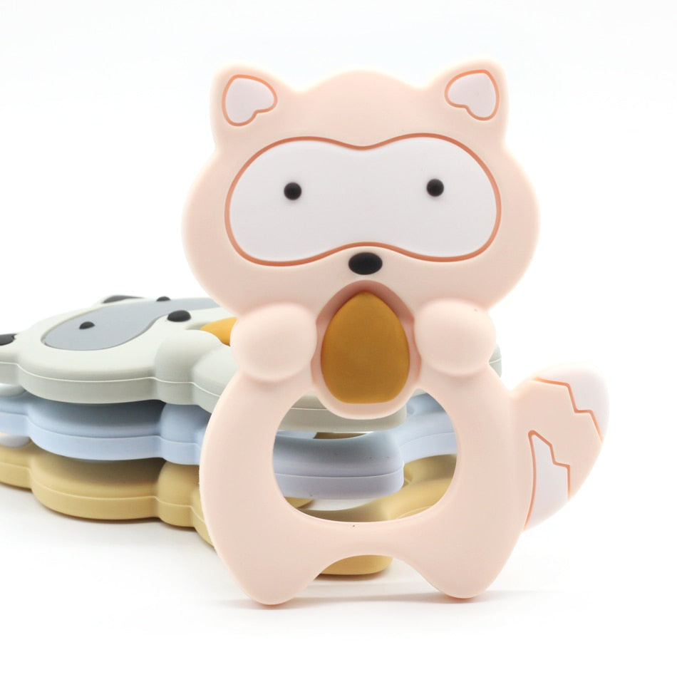 Raccoon Baby Ring Teether
