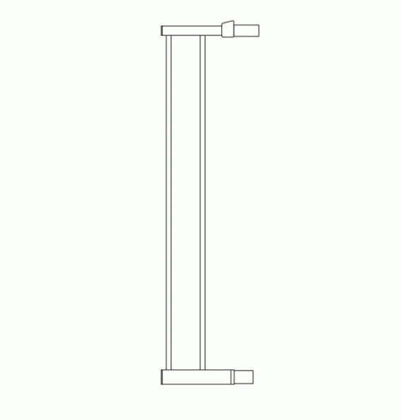 Lindam Safety Gate Extension 14cm Silver