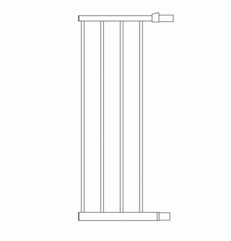 Lindam Safety Gate Extension 28cm Silver