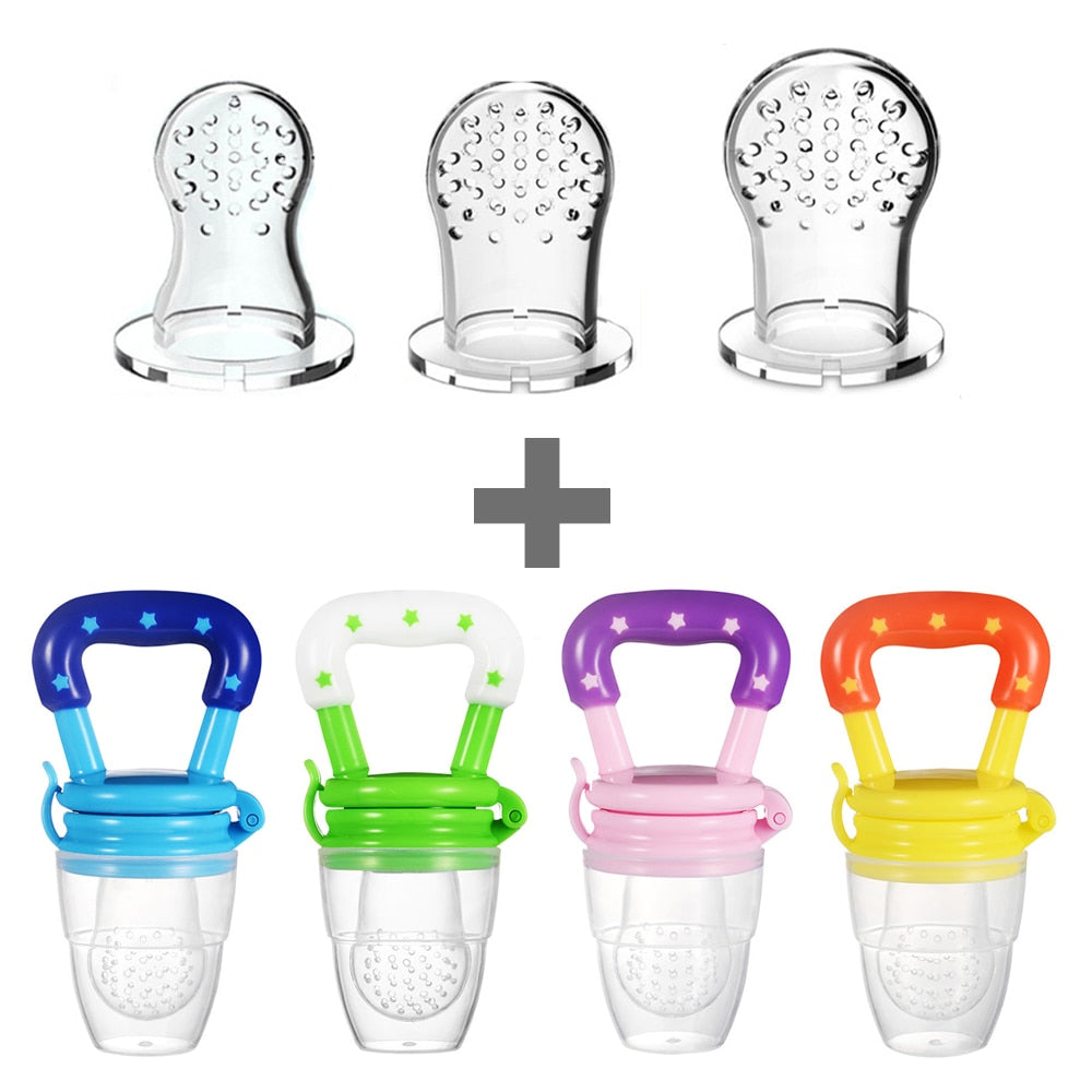 3 Pacifiers Baby Pacifiers Feeder Kids Fruit Feeder Nipples Feeding Safe Baby Supplies Nipple Teat Pacifier Bottles
