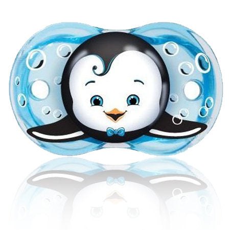 Razbaby Keep-it-Kleen Ethan Penguin  Pacifier Set of Three