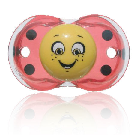 Razbaby Keep-it-Kleen Lola Ladybug Pacifier Set of Three