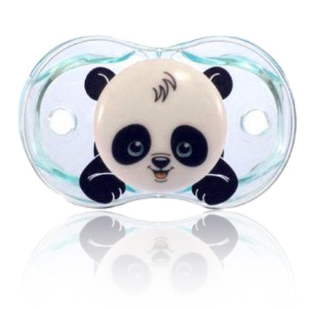 Razbaby Keep-it-Kleen Panky Panda Pacifier Set of Three