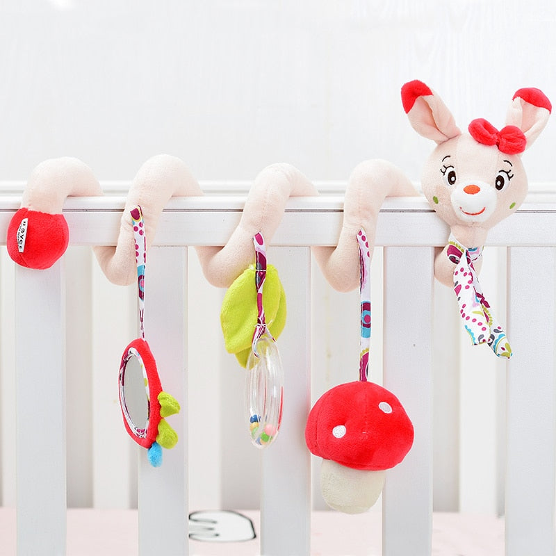 Cute Musical Cartoon Baby Crib Toys