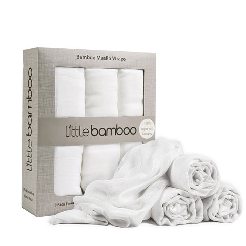 Little Bamboo - Muslin Wraps 3 pk