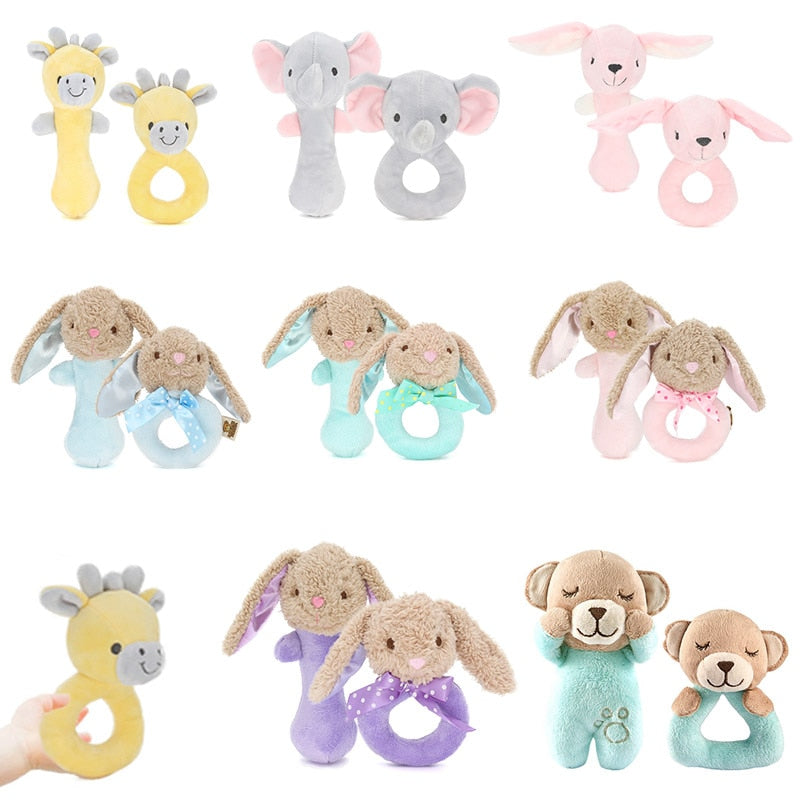Cartoon Animal Hand Bell Rattle Soft