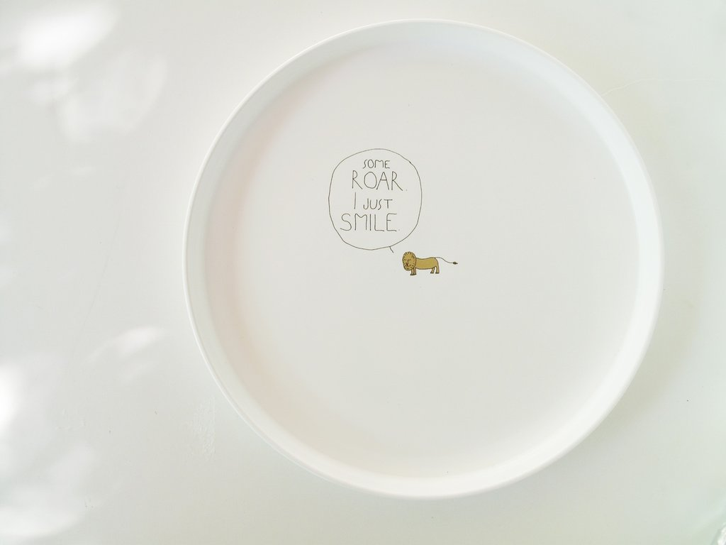 Smiling Planet Lion Roar Plate