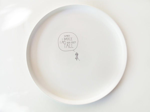 Smiling Planet Ballerina Mouse Plate