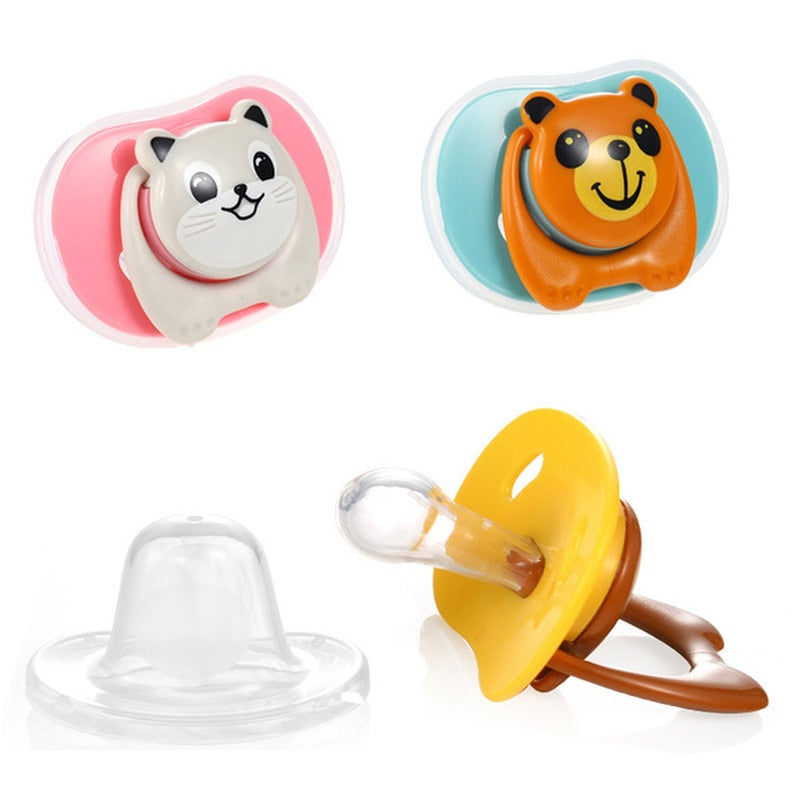 Cute Animal Pacifier with orthodontic nipple