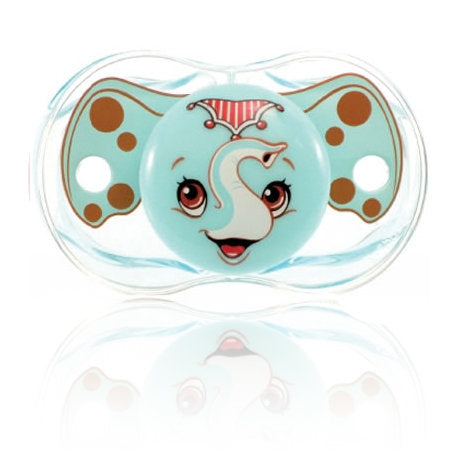 Razbaby Keep-it-Kleen Elly the Elephant Pacifier Set of Three