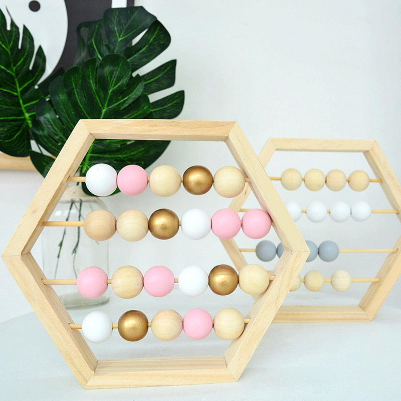 Natural Wooden Abacus With beads