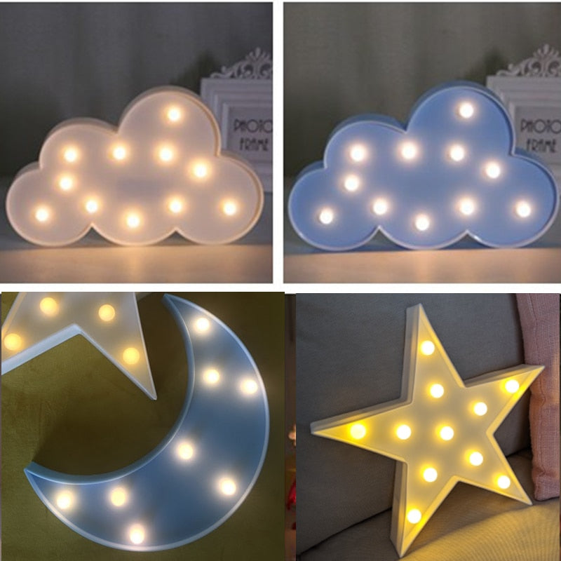 Cloud Star Moon LED Night Light