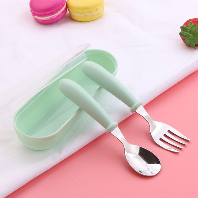 3pcs Children Spoon and Fork Set