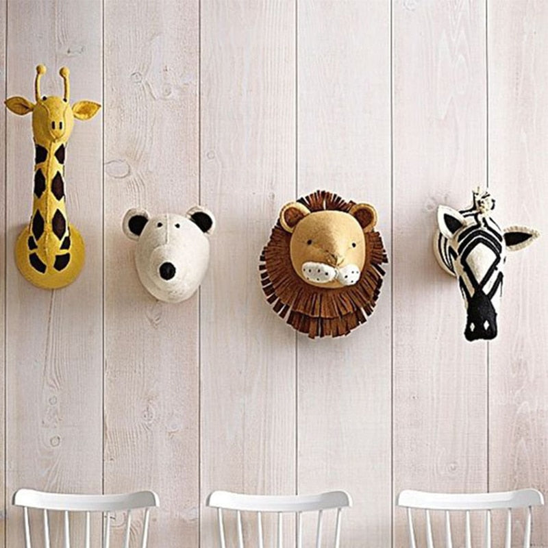 Safari Animal Head Wall Decor