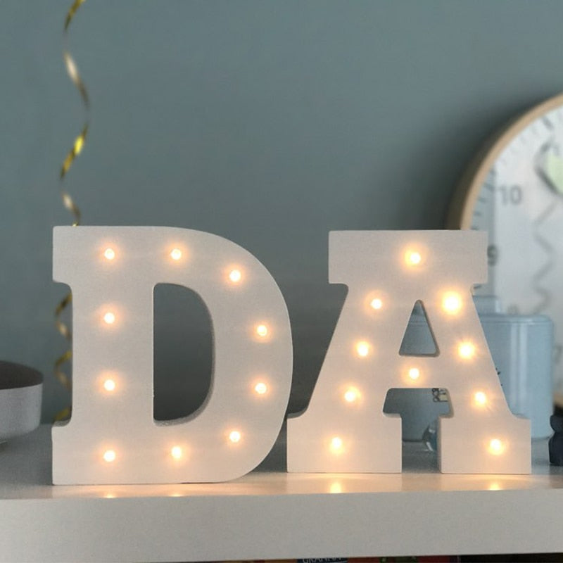 Letter Alphabets LED  Lamp Light