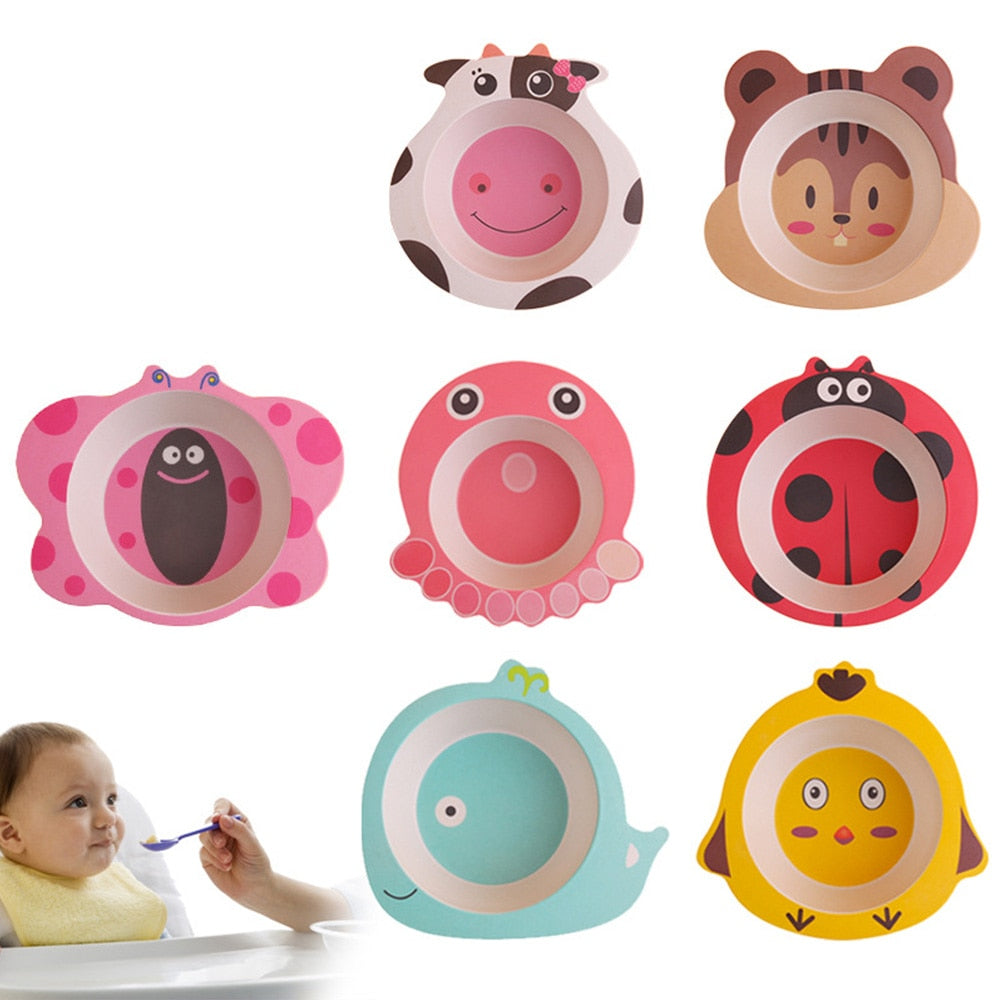Cartoon Animal Baby Plate
