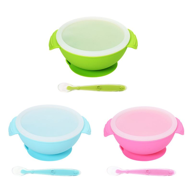 Baby Silicone Bowl Set with Powerful Suction Base