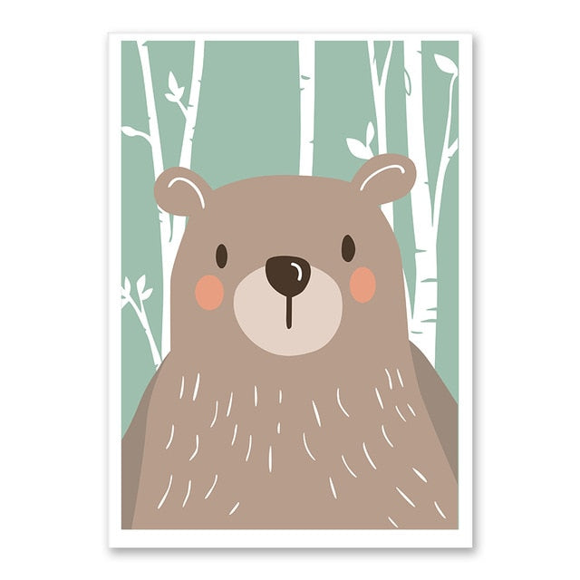 Bear Forest Cute Animal Wall Art