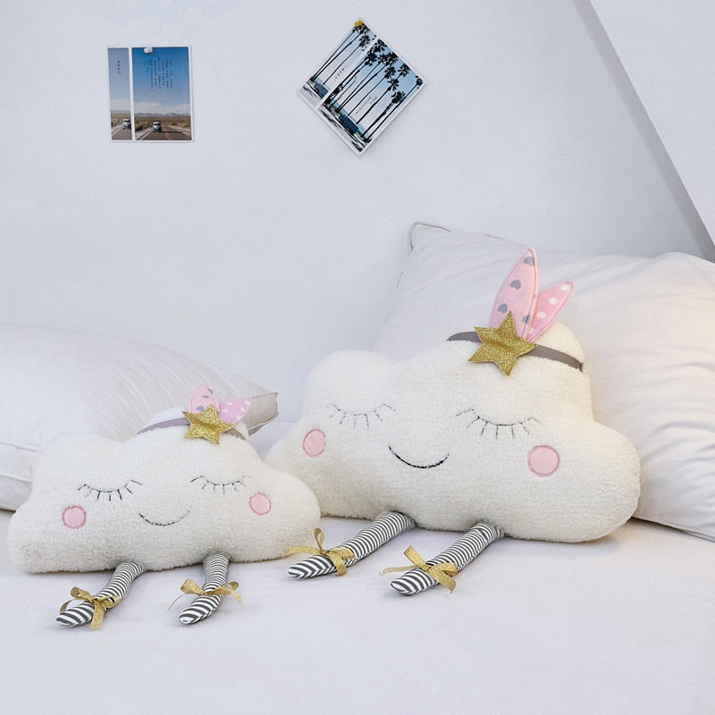 Cloud face Cushion Plush Stuffed Toy Pillow