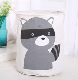Safari Animal Canvas Storage Pouch Stand Bag For Kids 40x50CM
