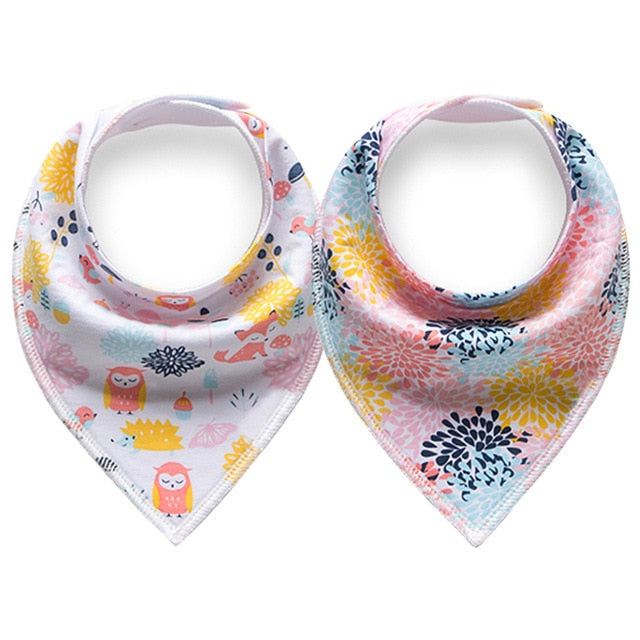 2pcs Cloth Baby Bandana Bibs