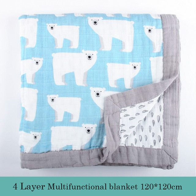 Animal 4 Layers Baby Winter Blanket