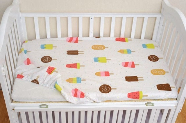 Cartoon Cotton Baby Fitted Sheet