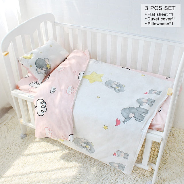 3pcs Colourful Baby Bedding Sets
