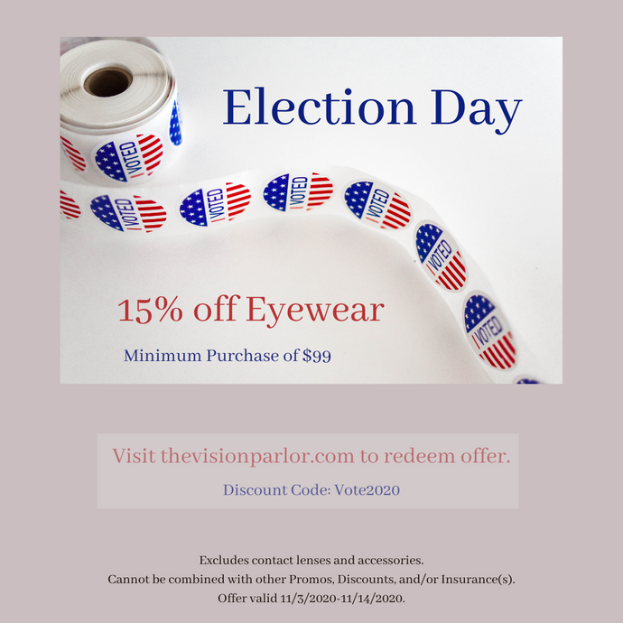 15% off Election Day Sale
