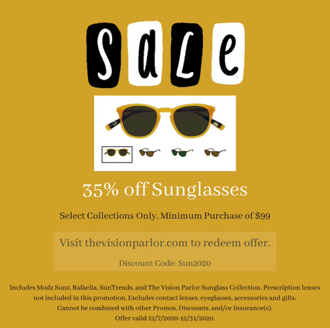 35% off discount sunglasses at The Vision Parlor