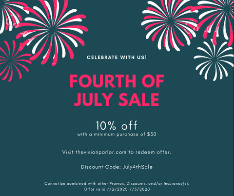 July 4th Sale Eyeglasses