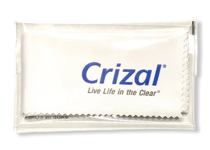 crizal live life in the clear microfiber cleaning cloth