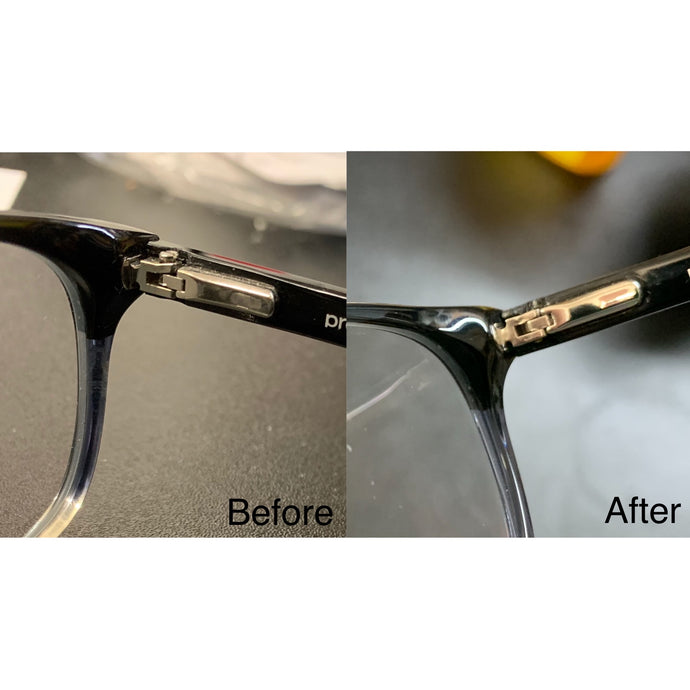 eyeglass hinge repair at The Vision Parlor in Auburn, CA Placer County