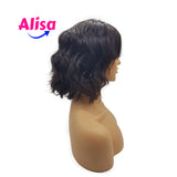 Short Bob Body Wave With Bang Full Lace Wigs