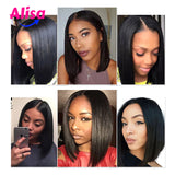 Short Straight 360 Lace Frontal Wigs