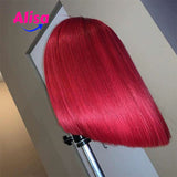 Red color Full Lace Wigs Short Bob Wigs