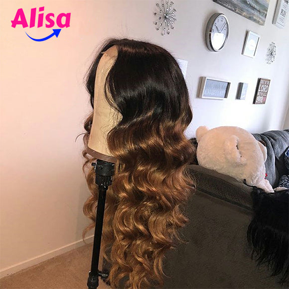 Ombre 1b/27 Fashion Body Wave Hair Lace Frontal Wigs