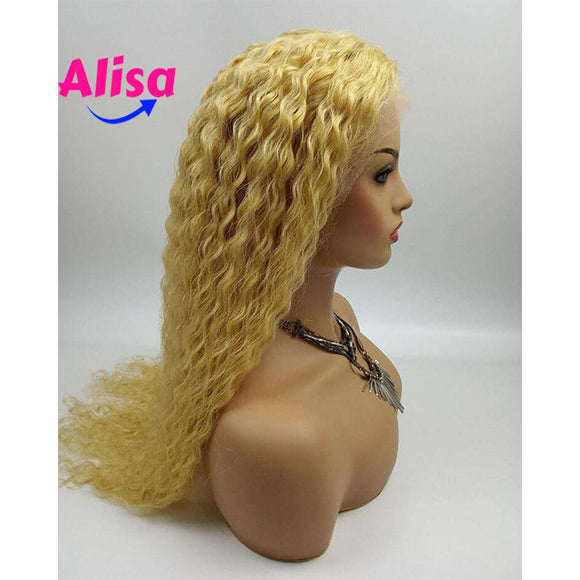 13*6 Lace Frontal Wigs Curly Hair 613 Blonde Color