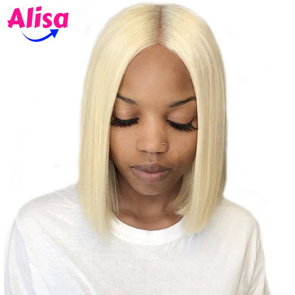 Lace Frontal Wigs Short Bob Wigs Straight 613 Blonde