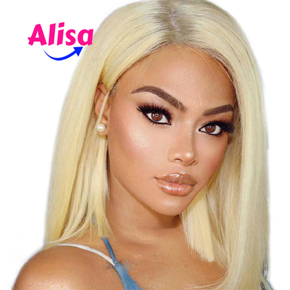 Lace Front Wigs Short Bob Wigs Straight 613 Blonde