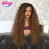 Wet And Curly wave 1b/27 Color Full Lace Wigs
