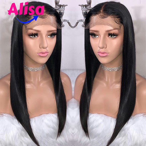 Straight Lace Front Human Hair Wigs 13x6 Deep Part Human Hair Peruvian Virgin Hair