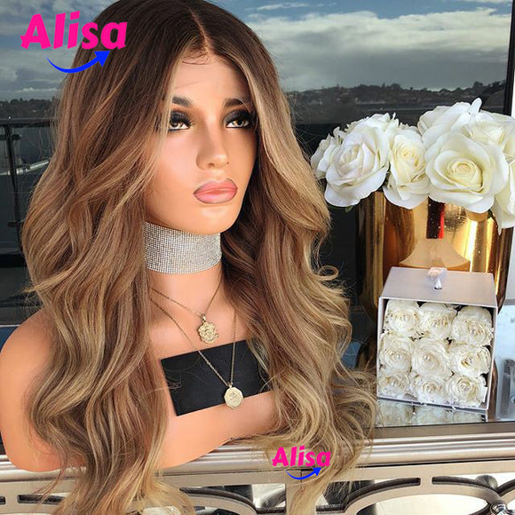 Honey Blonde 1b/27 Color 130% Density Body Wave Human Hair Wigs