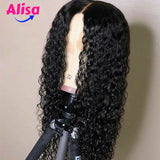 Wet And Curly Wigs Natural Hairline Lace Front Human Hair Wigs