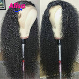 Kinky Curly Wave Wigs 360 Lace Wigs Bleached Knots