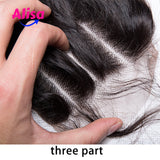 Wet And Curly Lace Closure Human HAir Closure Free Part Middle Part